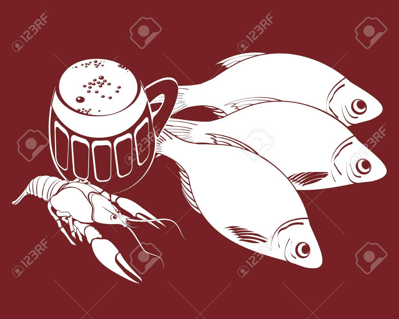 Vector illustration of the stockfishes, cancer and bear Stock Vector - 14073825