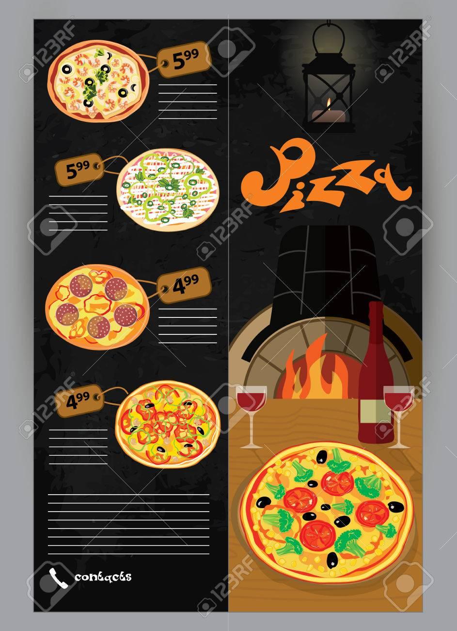 vector booklet flyer leaflet menu for pizza restaurants and