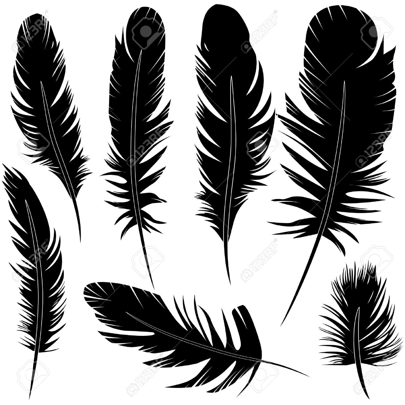 鳥の羽を設定ベクター イラスト スケッチのイラスト素材ベクタ Image