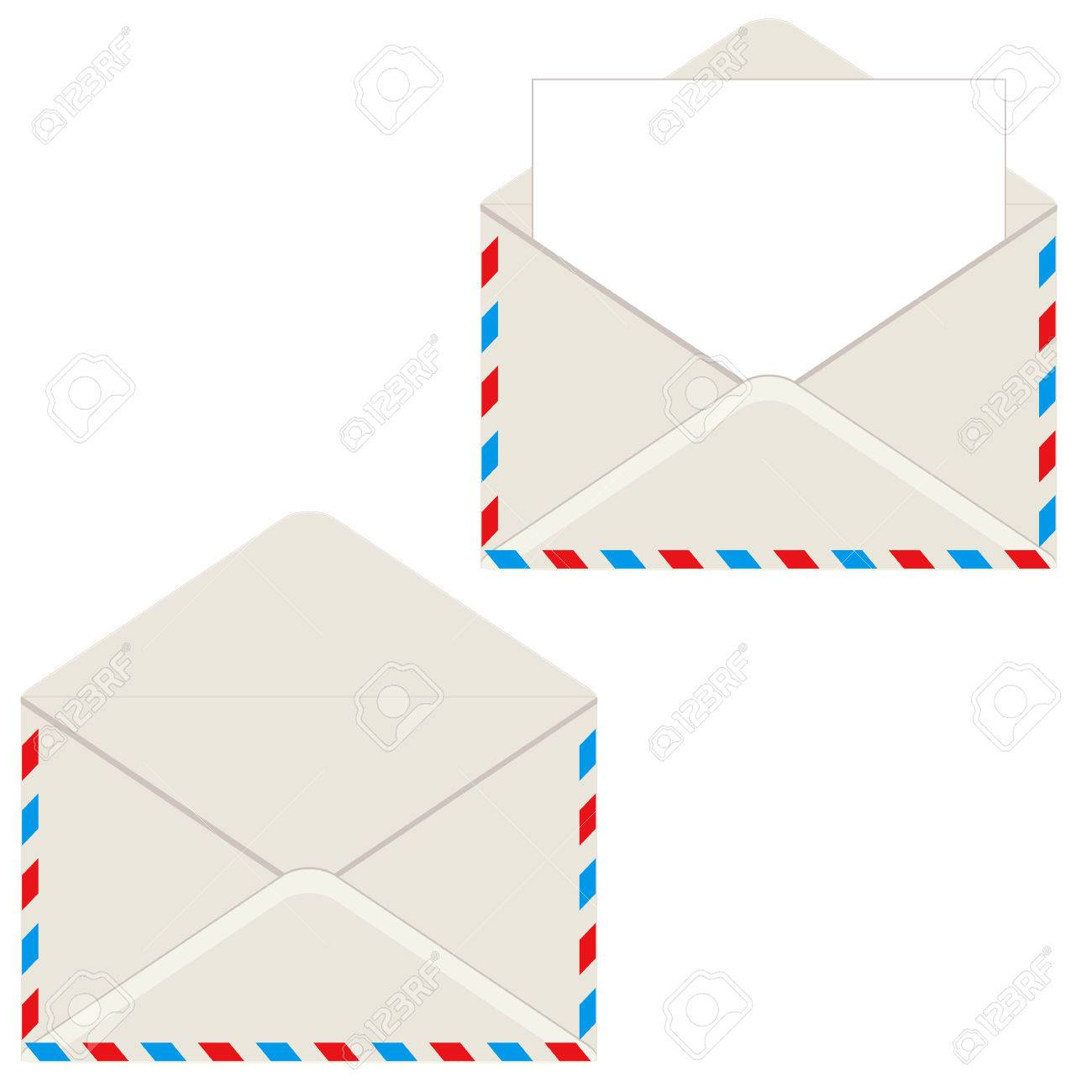open envelope with letter. vector illustration. element for design