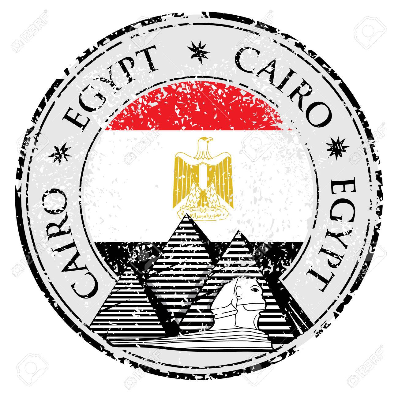 grunge rubber st with pyramid and the word cairo egypt inside Map of Egyptian Pyramids grunge rubber st with pyramid and the word cairo egypt inside vector illustration stock