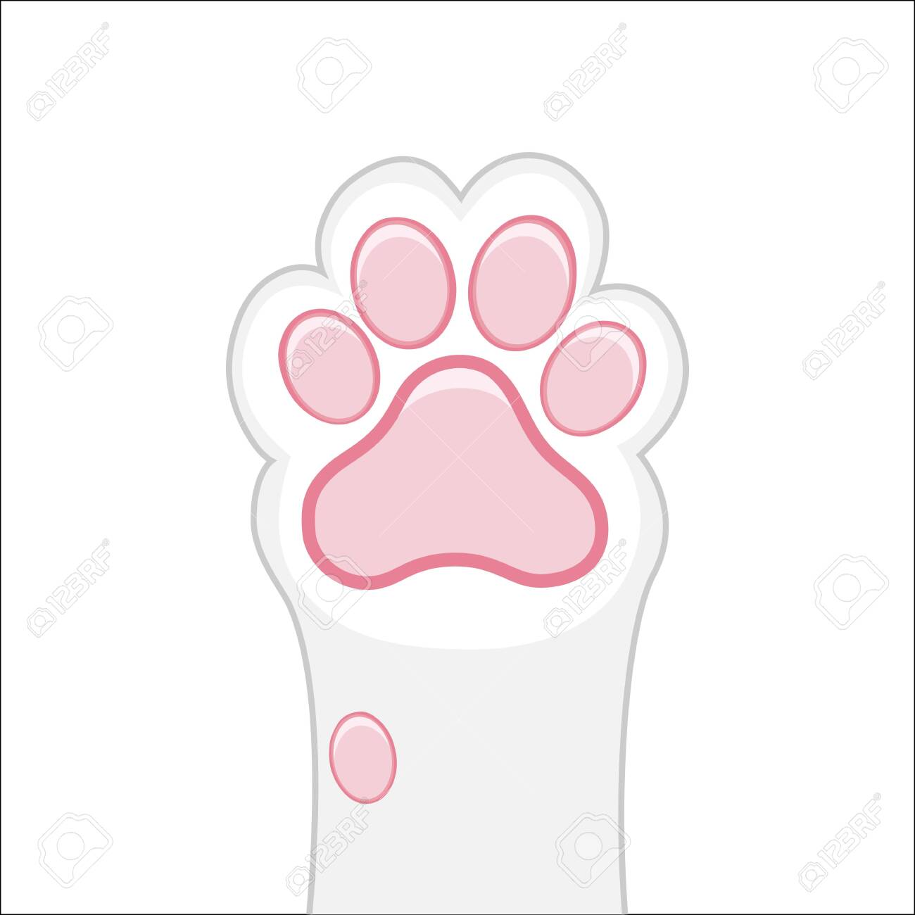 Cat Paw Background Kitten Flat Design Prints Cartoon Cute Royalty Free Cliparts Vectors And Stock Illustration Image 137180563