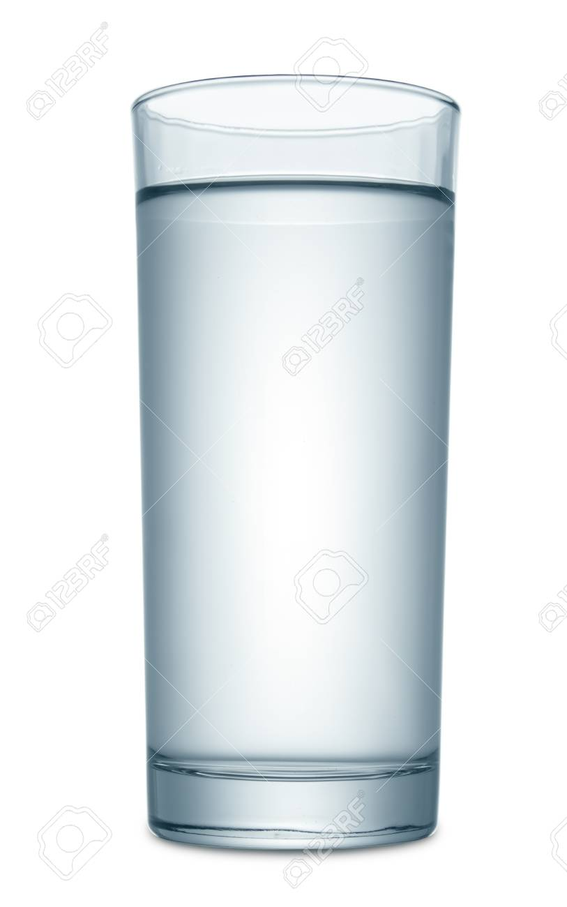 Water in glass isolated on white Stock Photo - 19273163