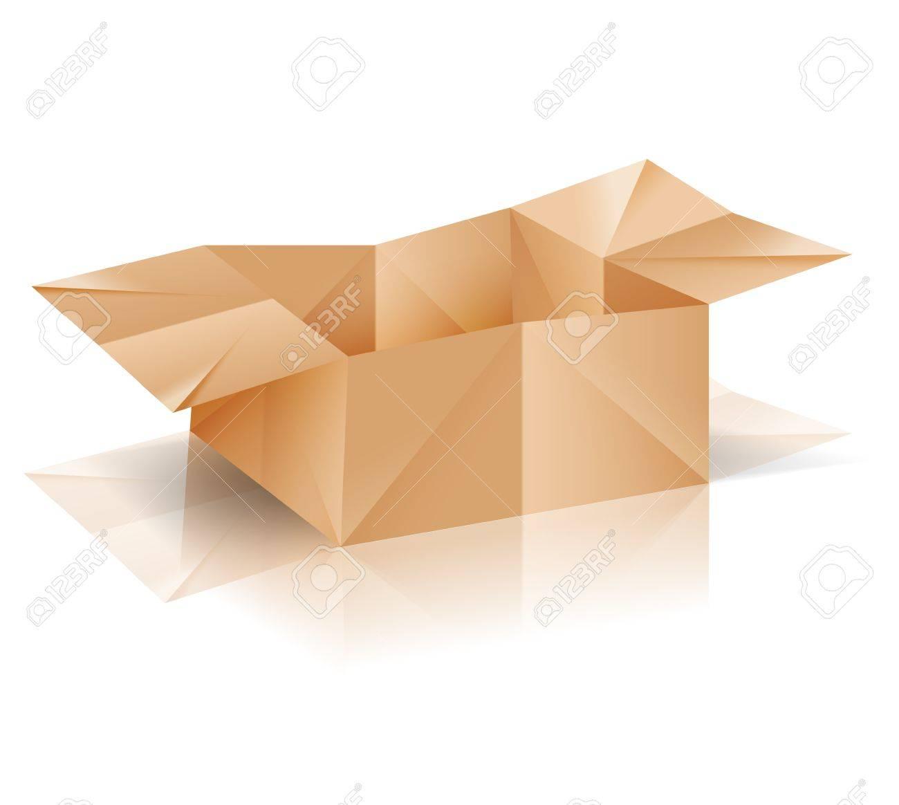 boîte de papier d'origami avec la réflexion clip art libres de