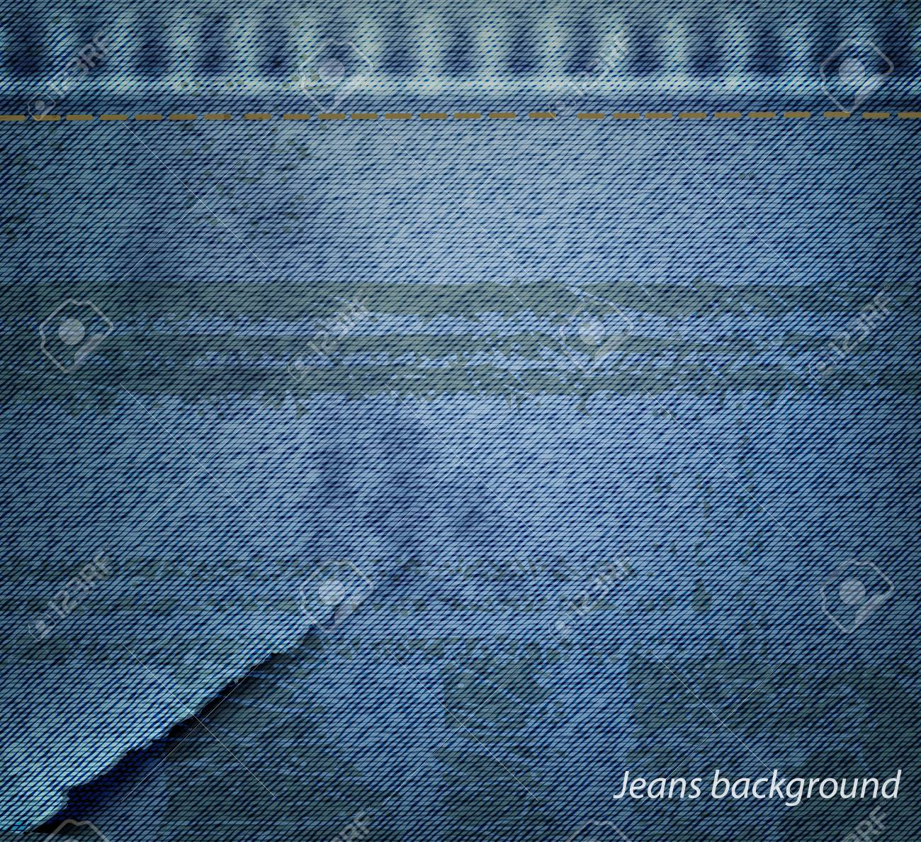 grunge jeans background. Stock Vector - 17558974