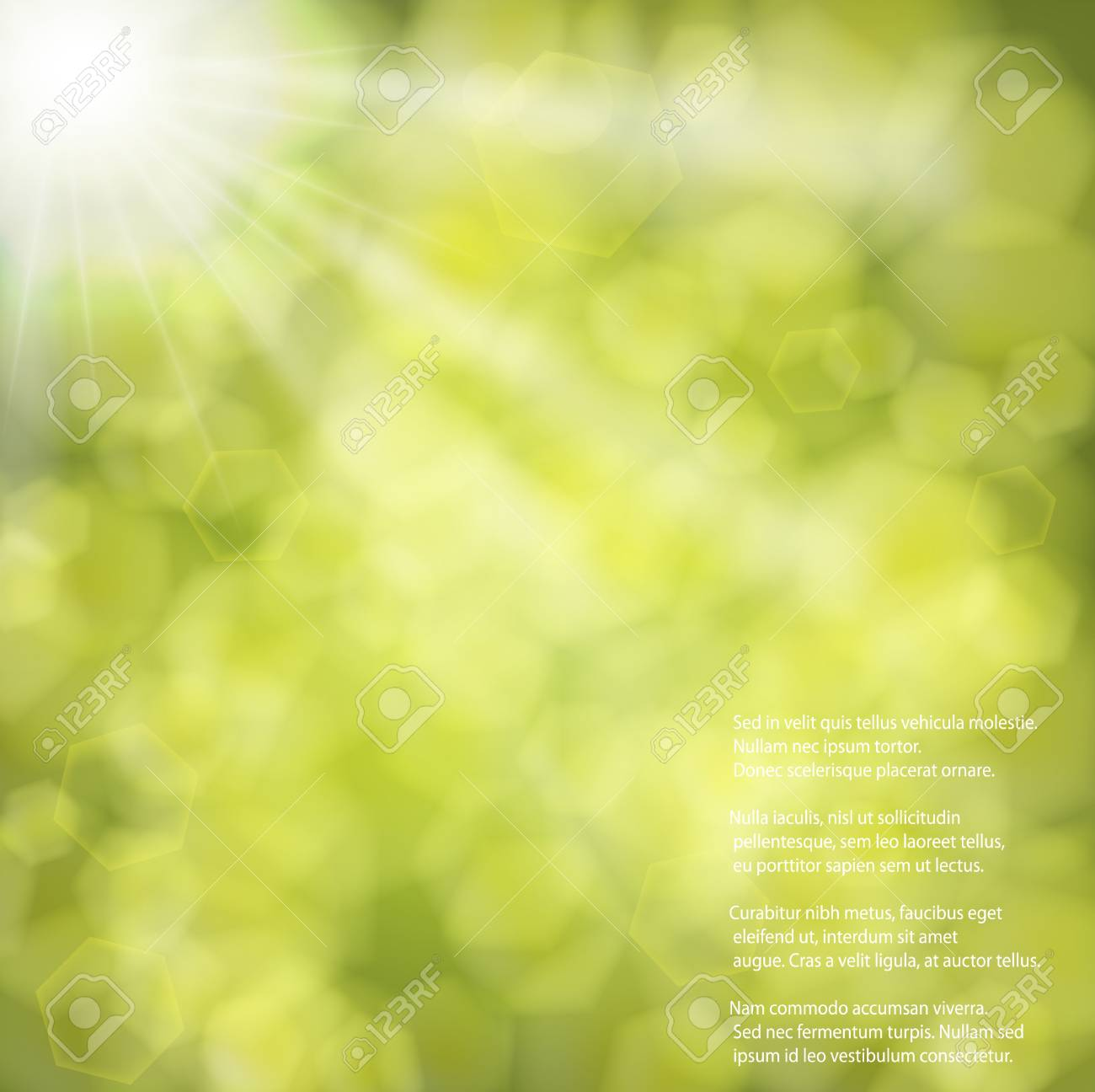 Green blurred background Stock Vector - 17558935