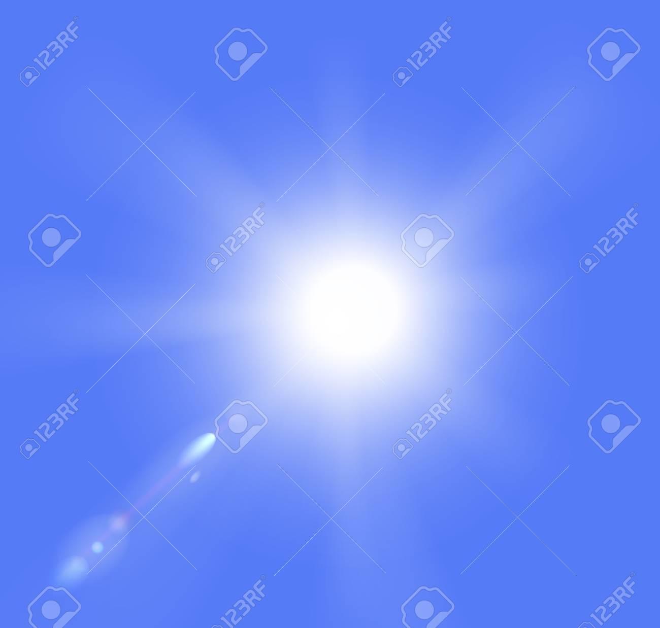 Vector illustration of sun  on a blue sky. Stock Vector - 17711131