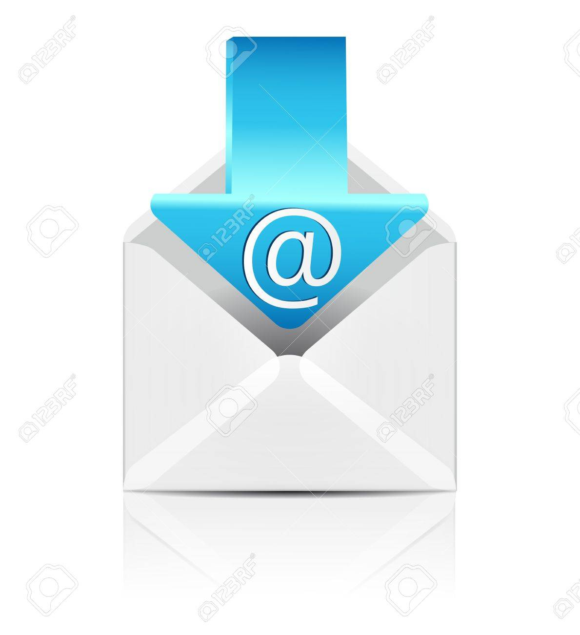 E mail concept  Vector white envelope with arrow email sign icon Stock Vector - 18366066
