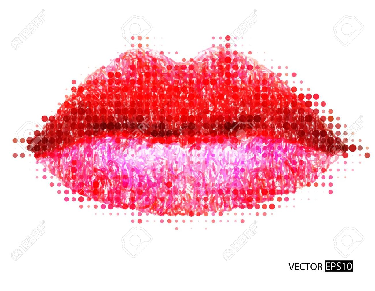 Abstract vector woman lips Stock Vector - 18683865