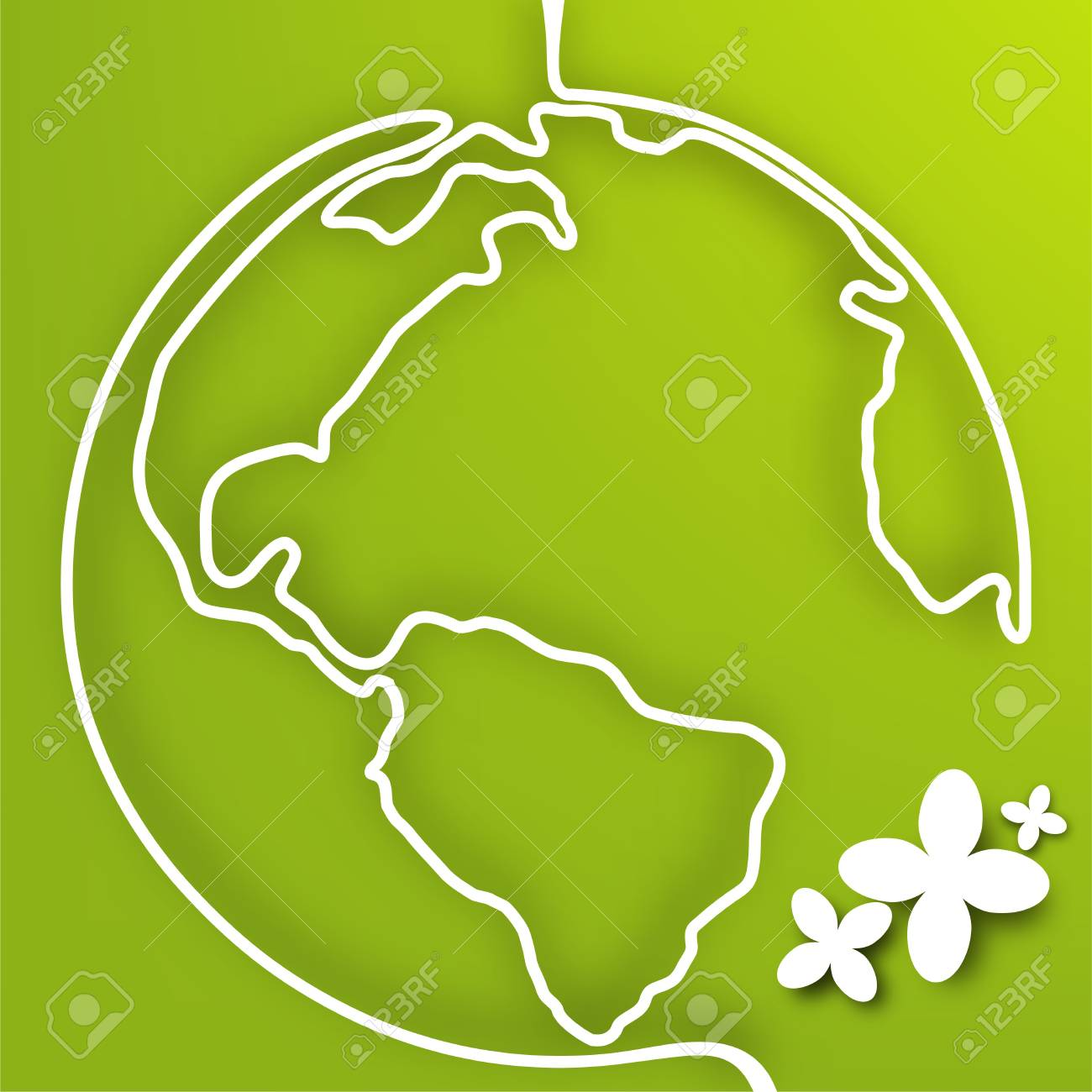 Vector eco green planet Stock Vector - 19373465