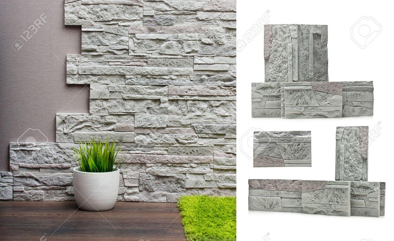 interior de con paredes de piedra papel de vinilo y la madera de fondo with paredes de piedra interiores