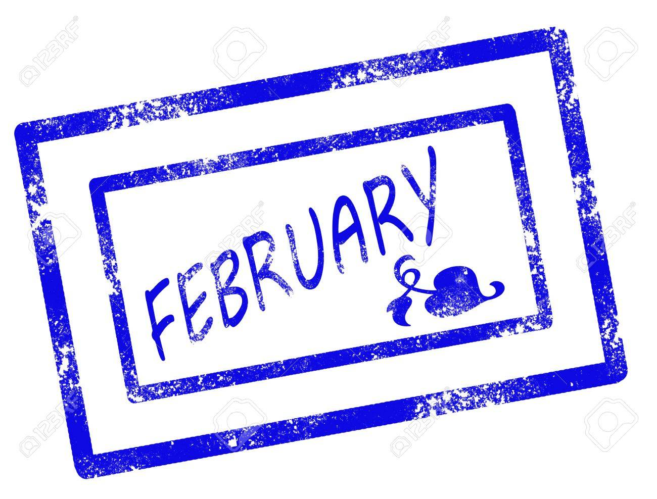calendar february stamp on withe background vector illustration Stock Vector - 17708080