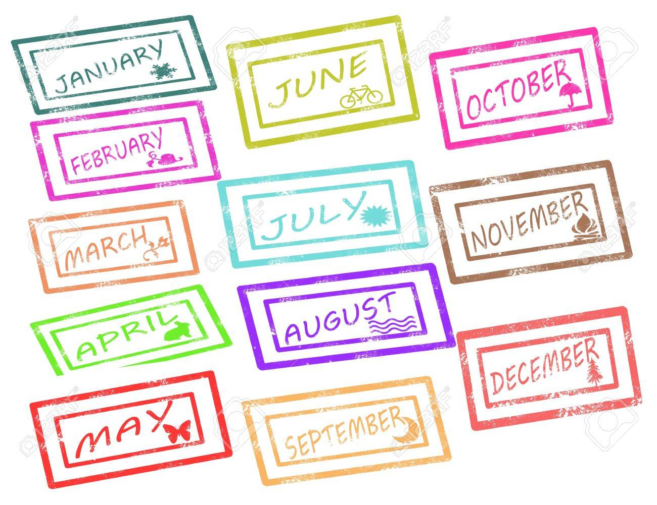 Calendar stamp on withe background vector illustration Stock Vector - 17708069