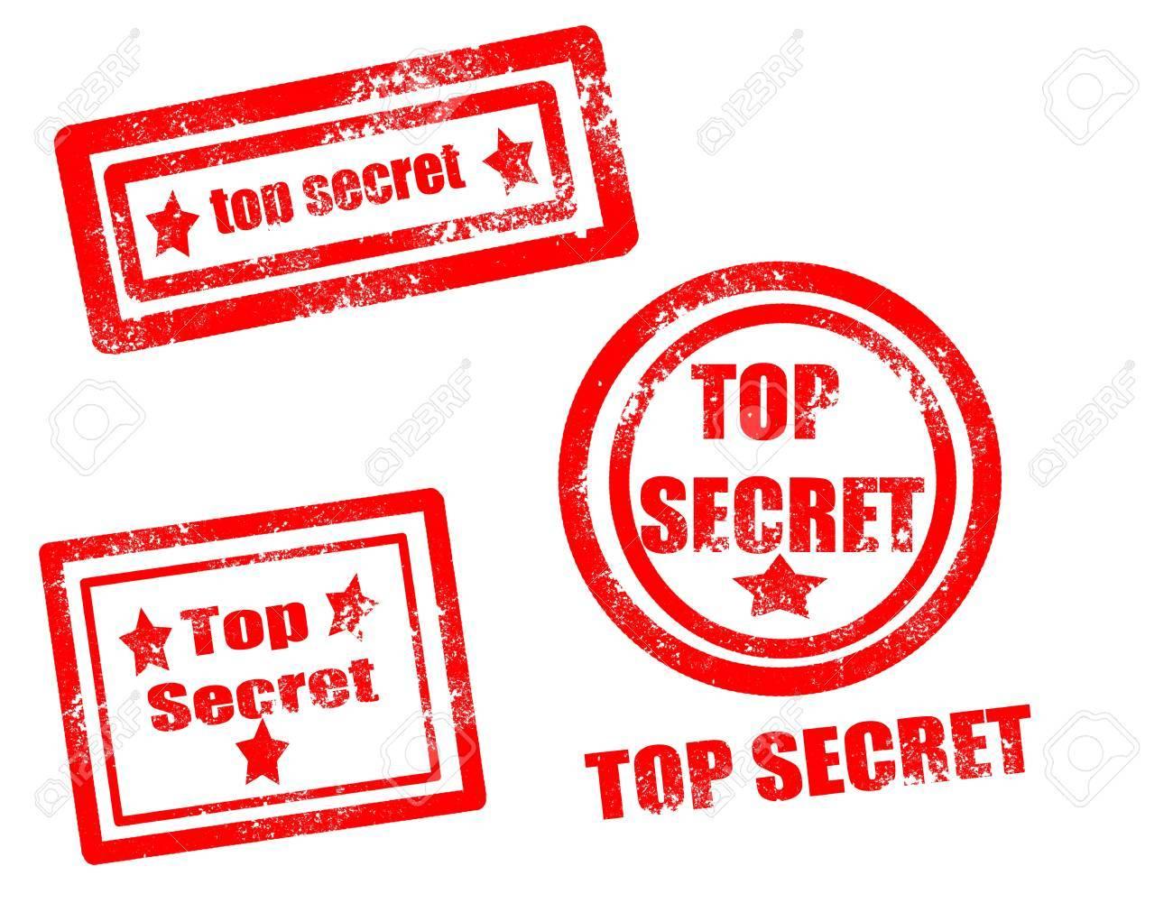 Top secret stamp on white background vector illustration Stock Vector - 17708079