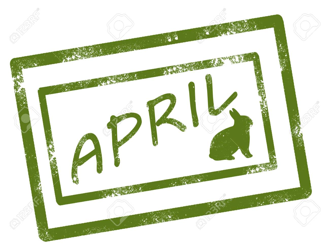 calendar april stamp on white background vector illustration Stock Vector - 17708067