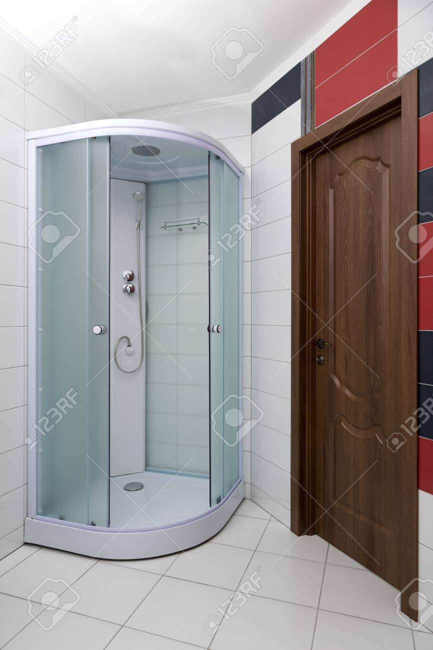 Bathroom Interior With A New Shower Cubicle Stock Photo, Picture And ...