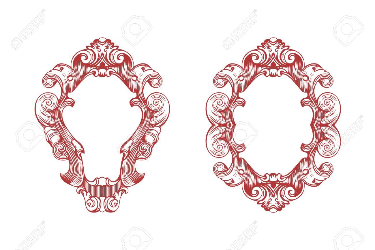 Vector Damask Frame. Vector Illustration. Royalty Free Cliparts ...