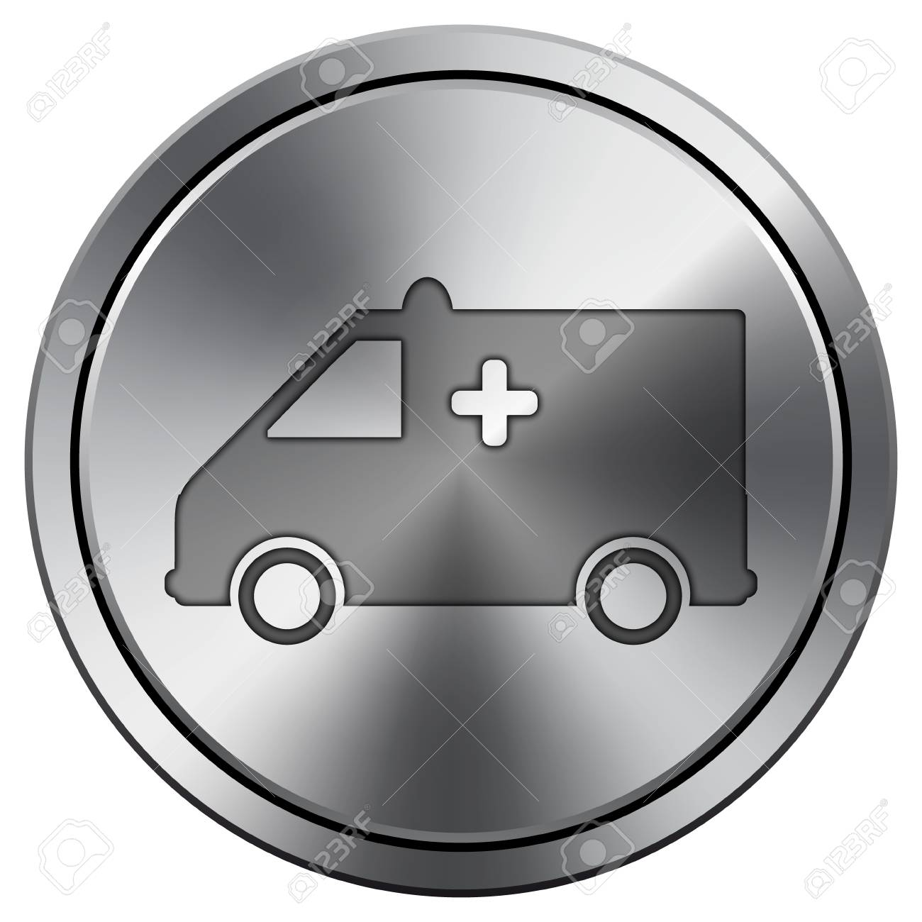 Metallic icon with carved design Stock Photo - 21387215