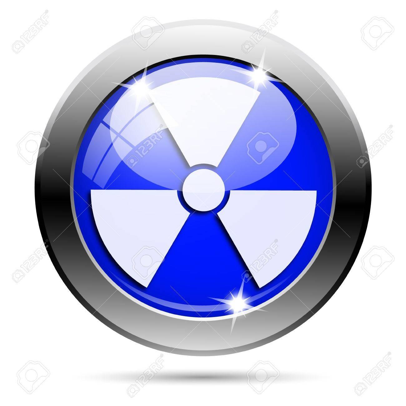 Metallic round glossy icon with white design on blue background Stock Photo - 21986551
