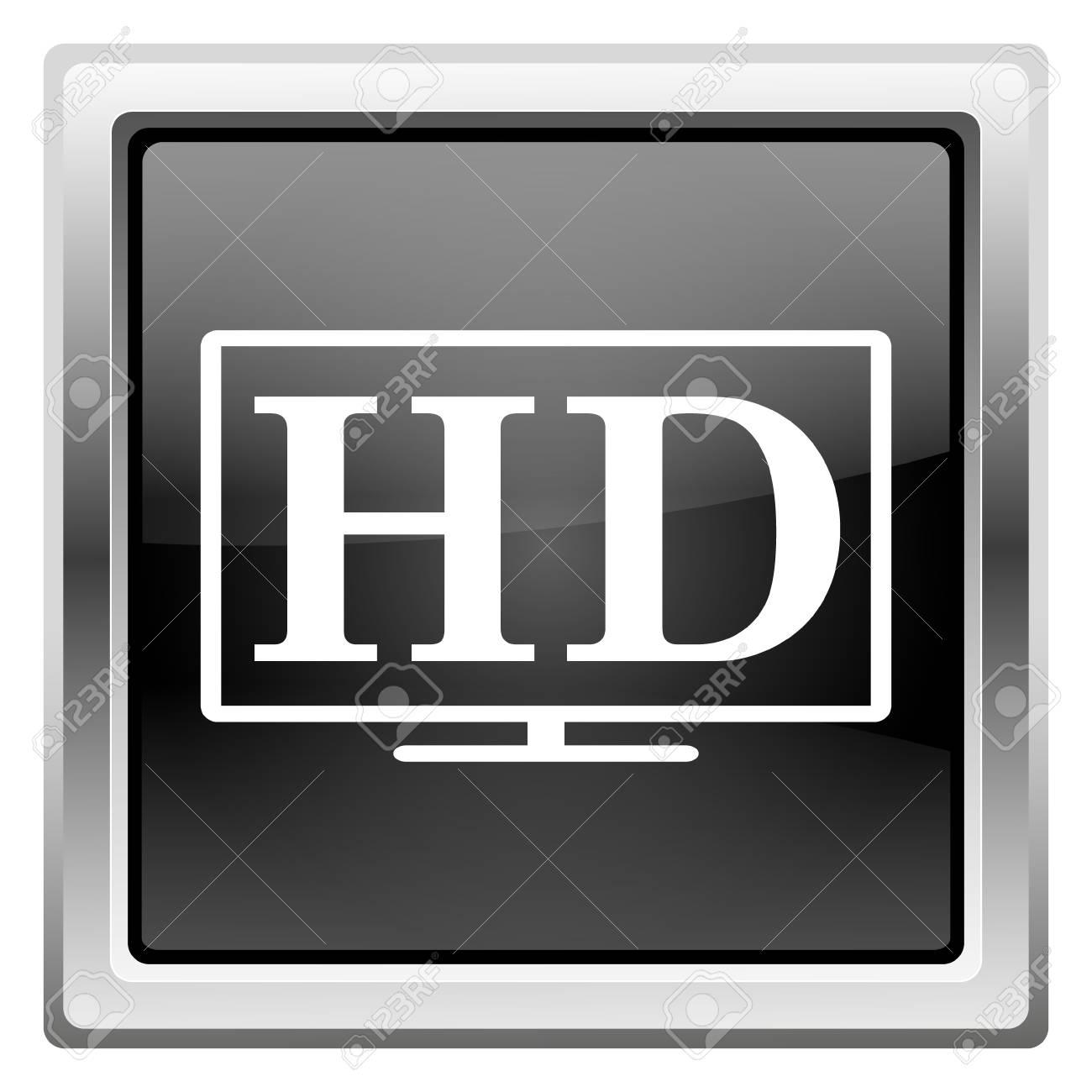 Metallic icon with white design on black background Stock Photo - 22491295