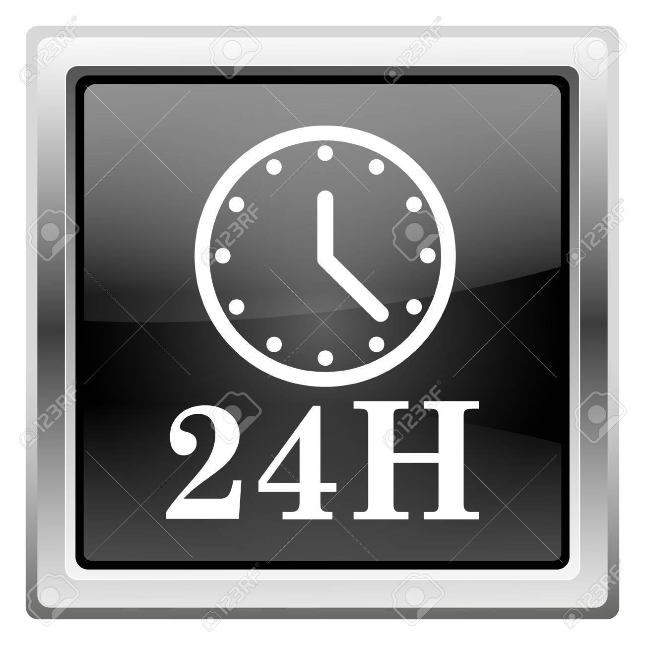 Metallic icon with white design on black background Stock Photo - 22495212