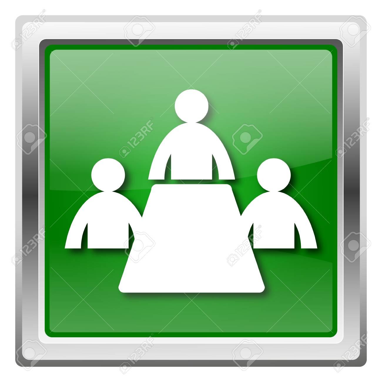 Metallic icon with white design on green background Stock Photo - 22562626