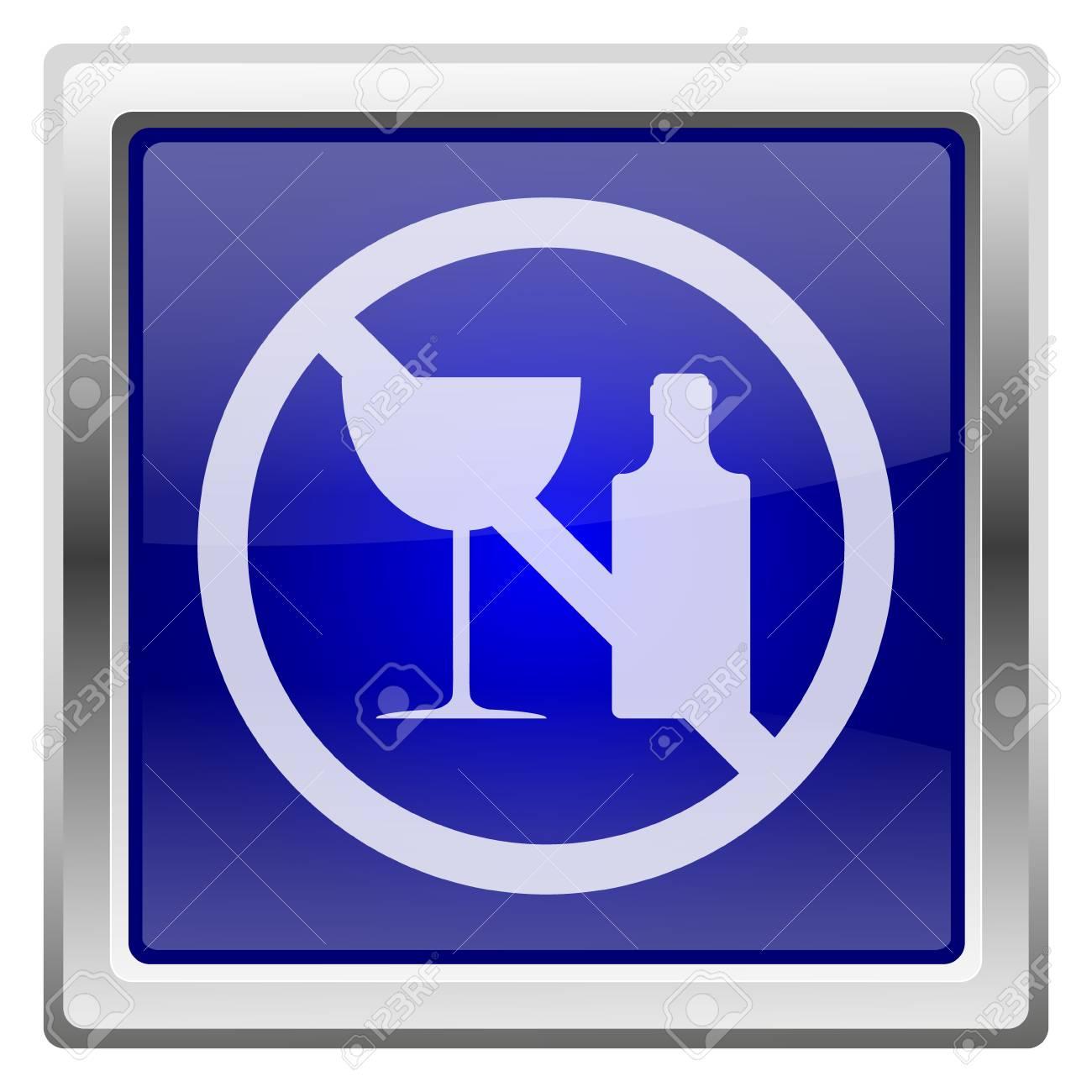 Metallic shiny icon with white design on blue background Stock Photo - 24936920