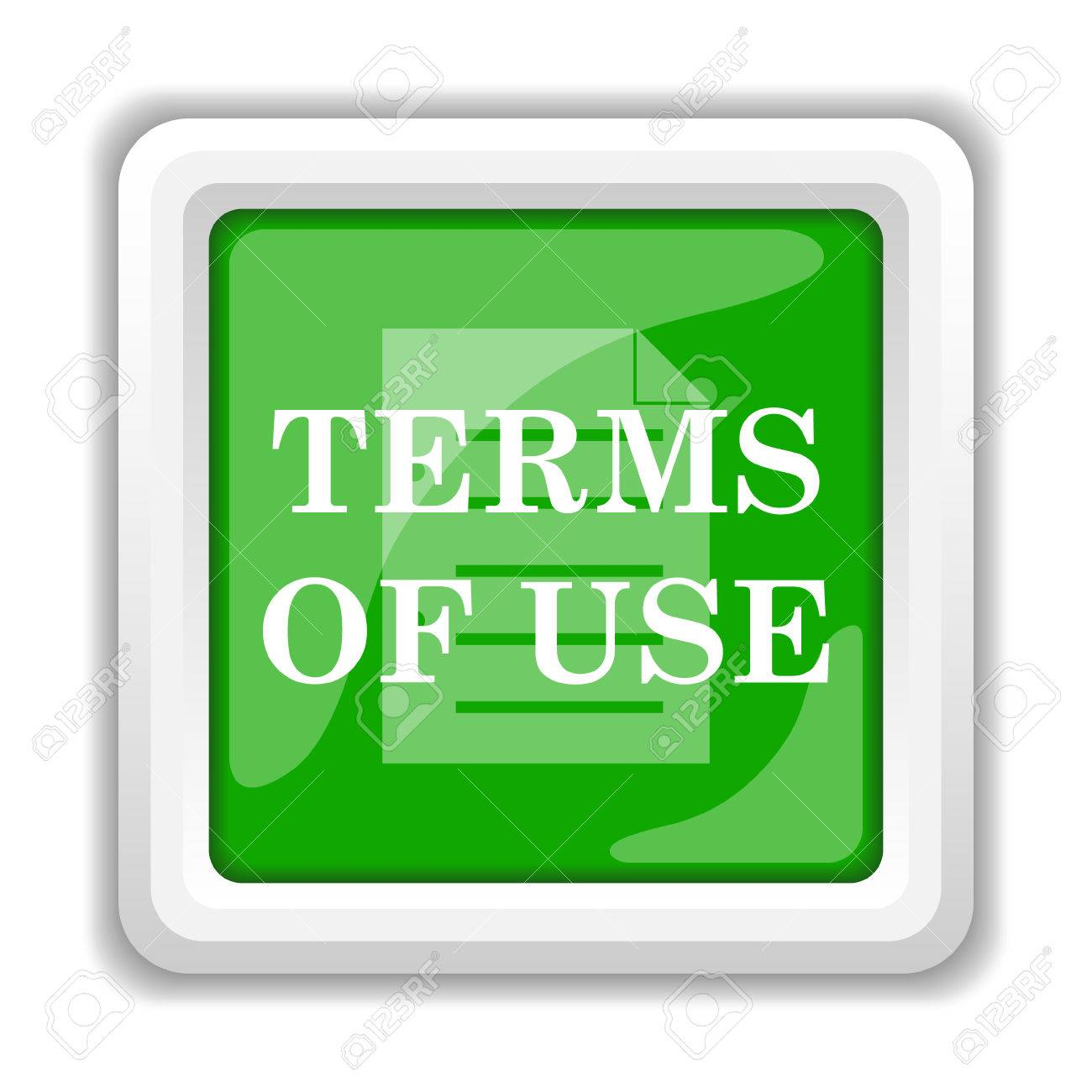 Terms of use - Stock Photo Terms Of Use Icon Internet Button On White Background