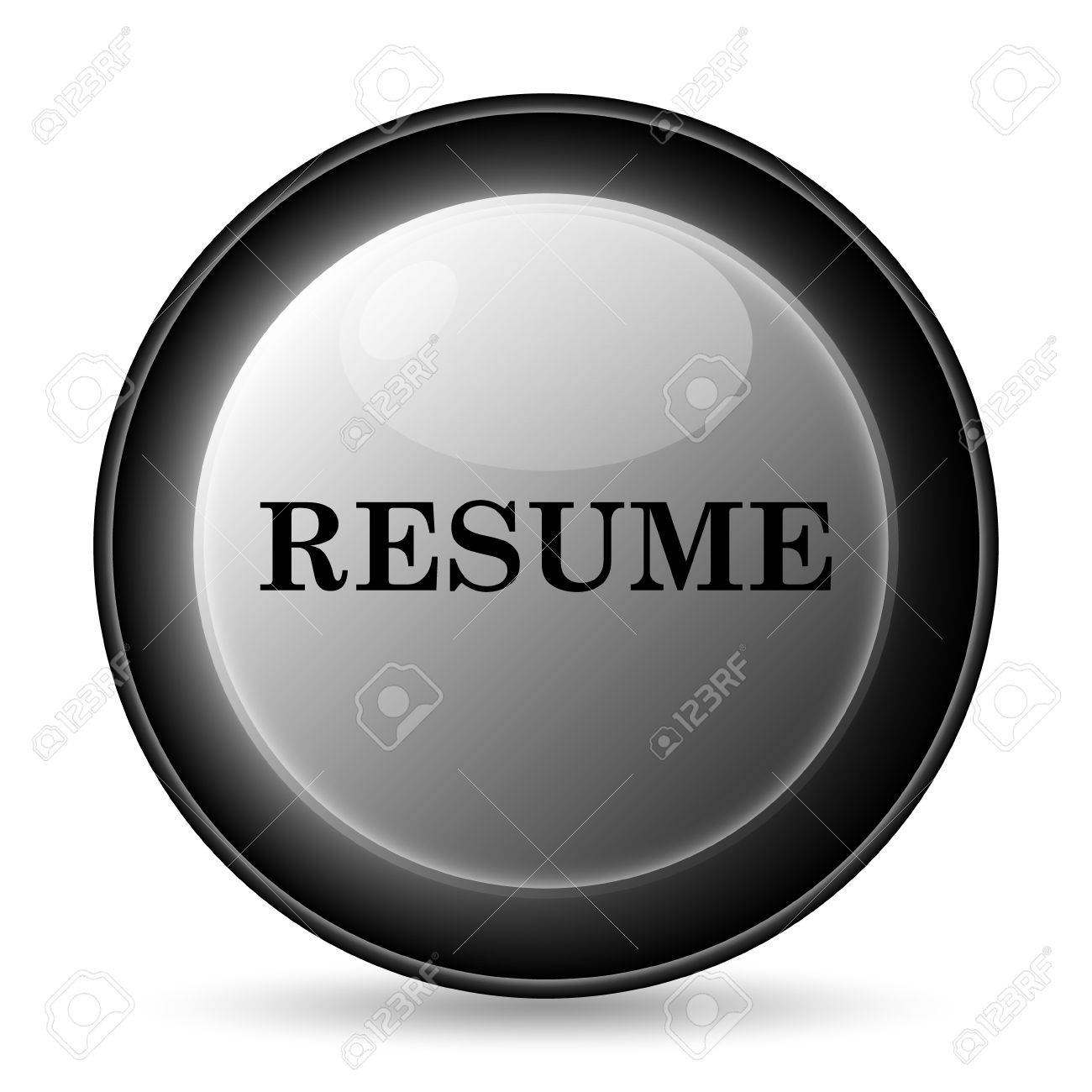 resume icon internet button on white background stock photo resume icon internet button on white background stock photo 36205129