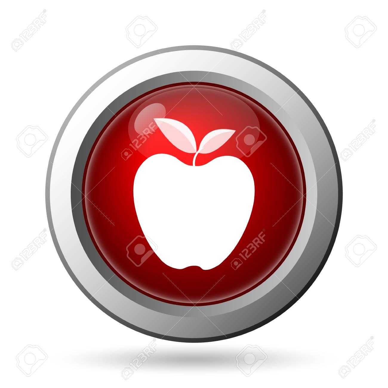 Apple Symbol Internet Taste Auf Weiem Hintergrund Lizenzfreie