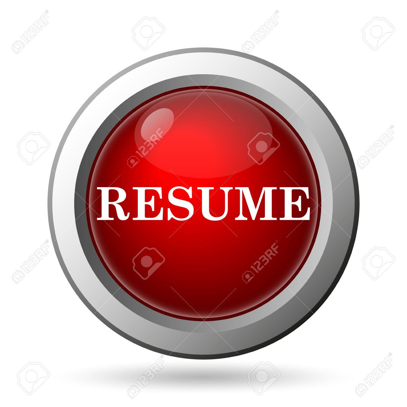 resume icon internet button on white background stock photo resume icon internet button on white background stock photo 36710065