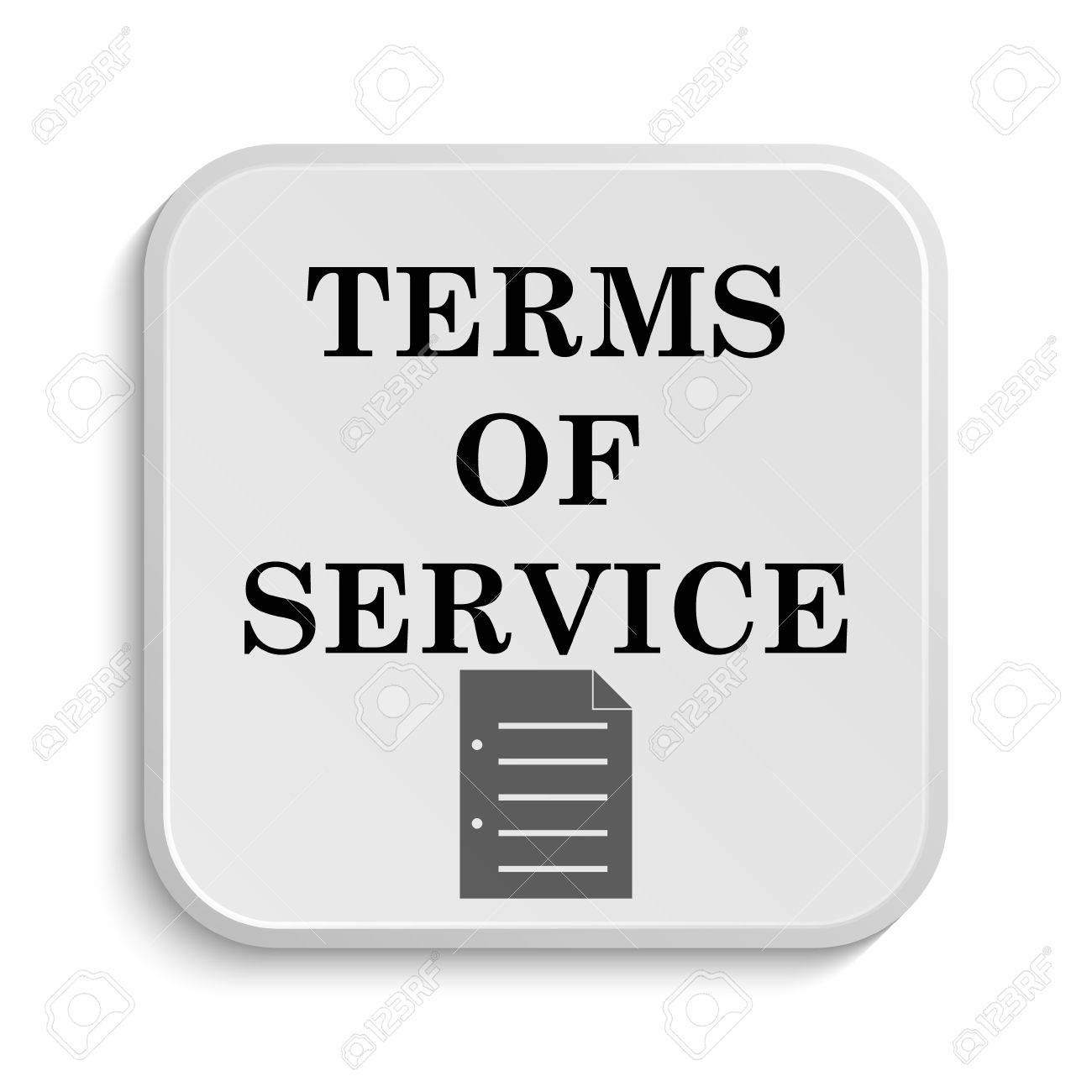Terms of service icon internet button on white background stock photo 37845981