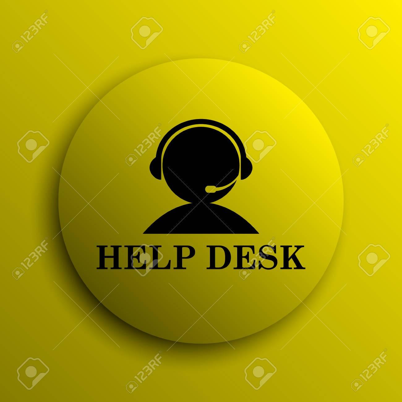 Helpdesk Icon. Yellow Internet Button. Stock Photo   39821332