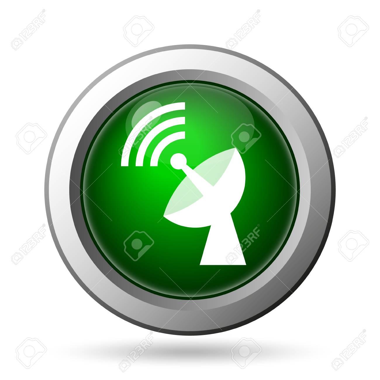 Wireless Antennensymbol. Internet-Taste Auf Weißem Hintergrund ...
