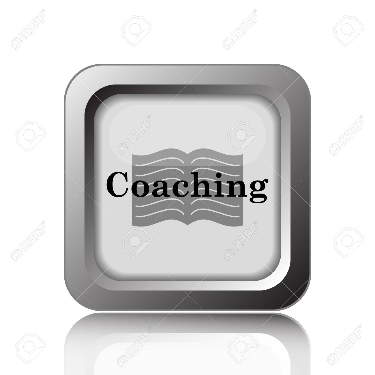 coaching icon internet button on white background stock photo