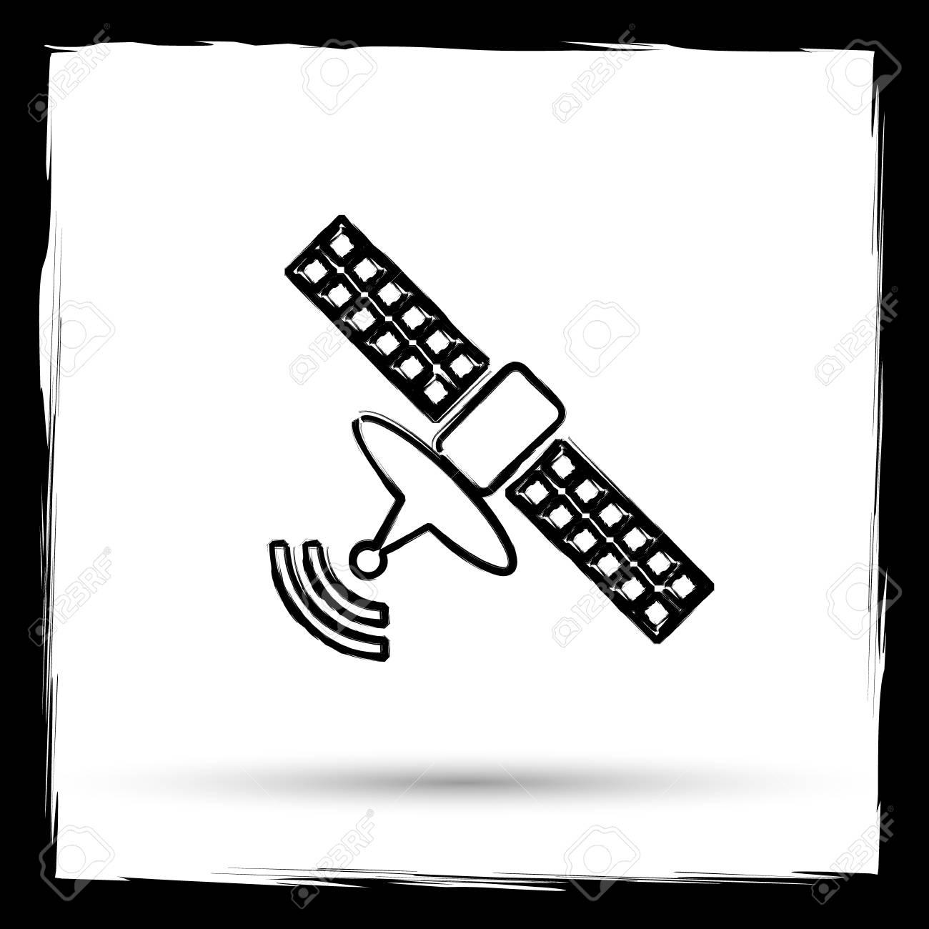 Antennensymbol. Internet-Taste Auf Weißem Hintergrund. Umreißentwurf ...