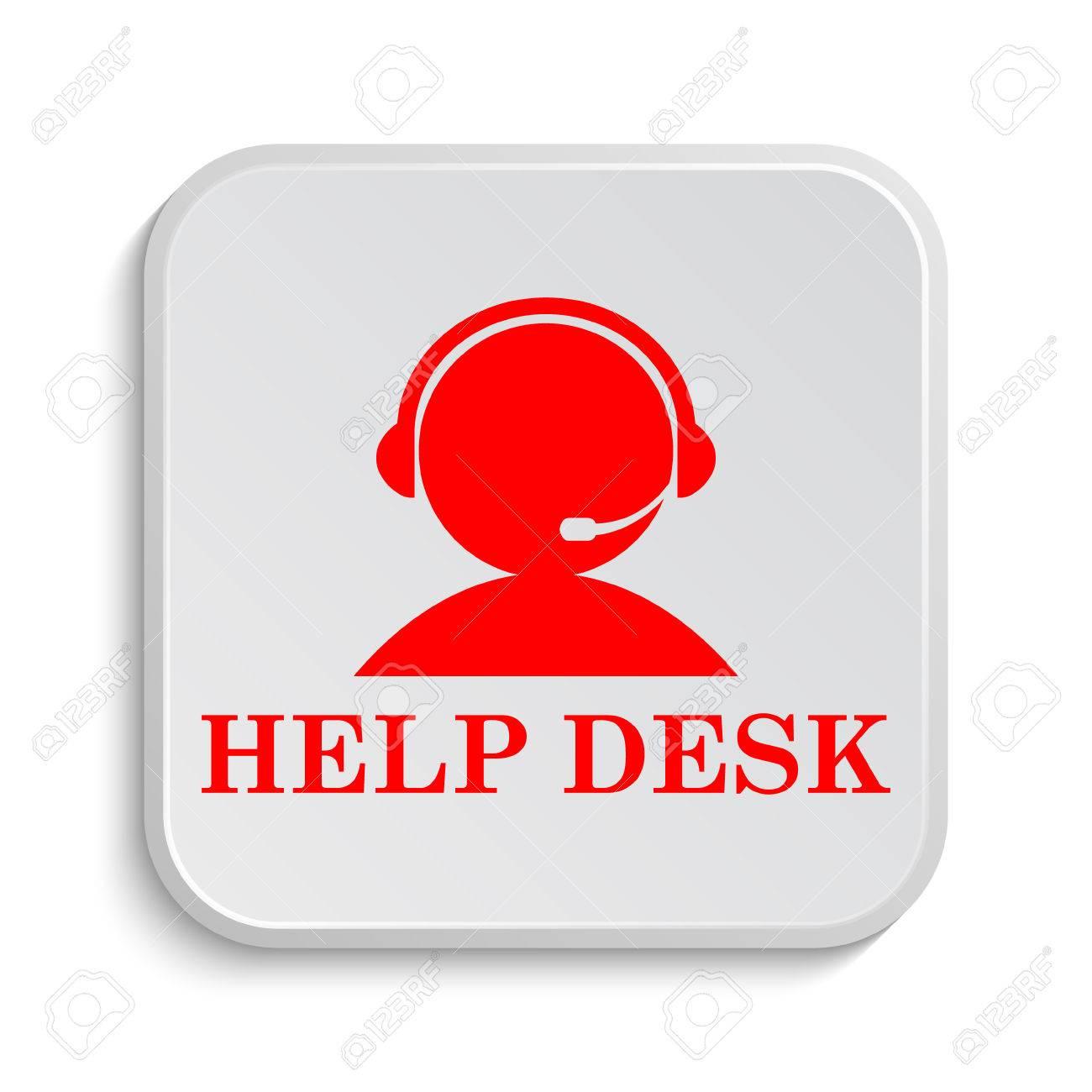 Helpdesk Icon. Internet Button On White Background. Stock Photo   45746595