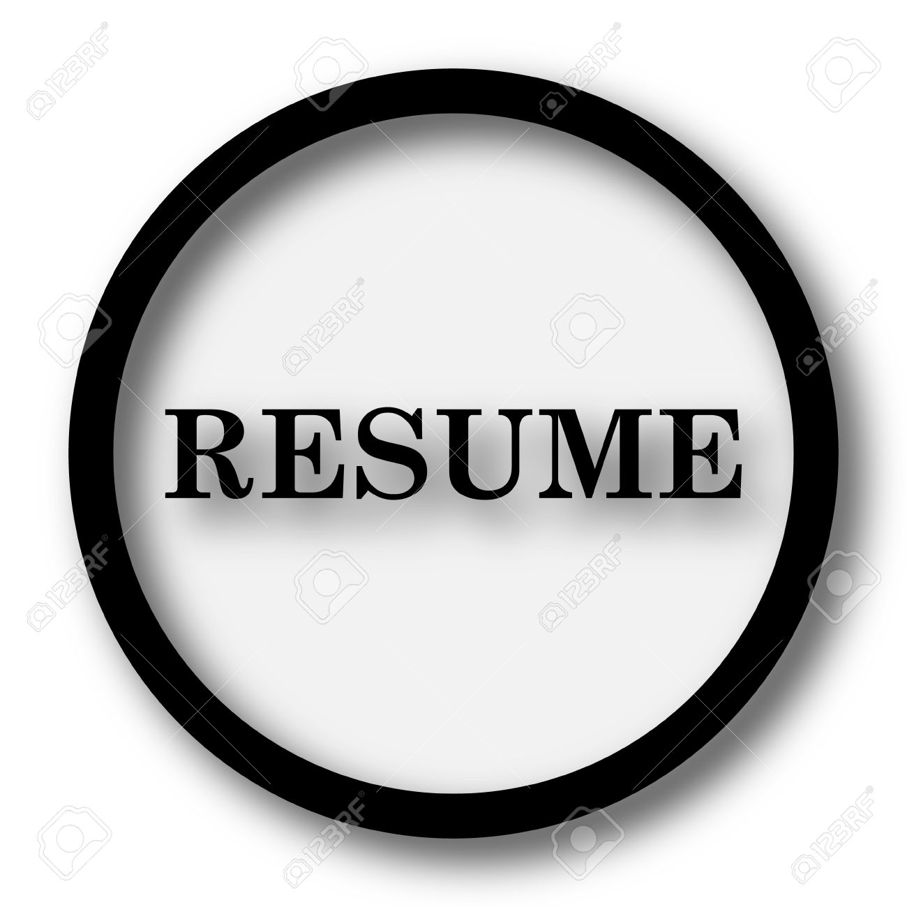 resume icon internet button on white background stock photo resume icon internet button on white background stock photo 47322617