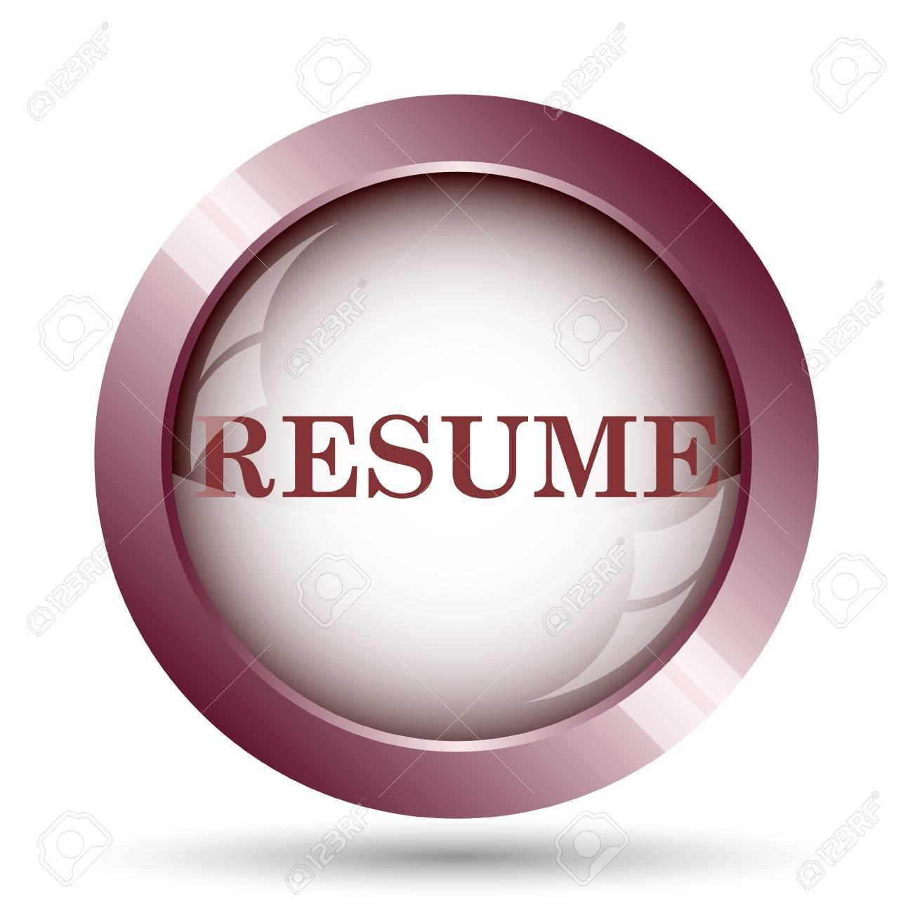 resume icon internet button on white background stock photo resume icon internet button on white background stock photo 49232801