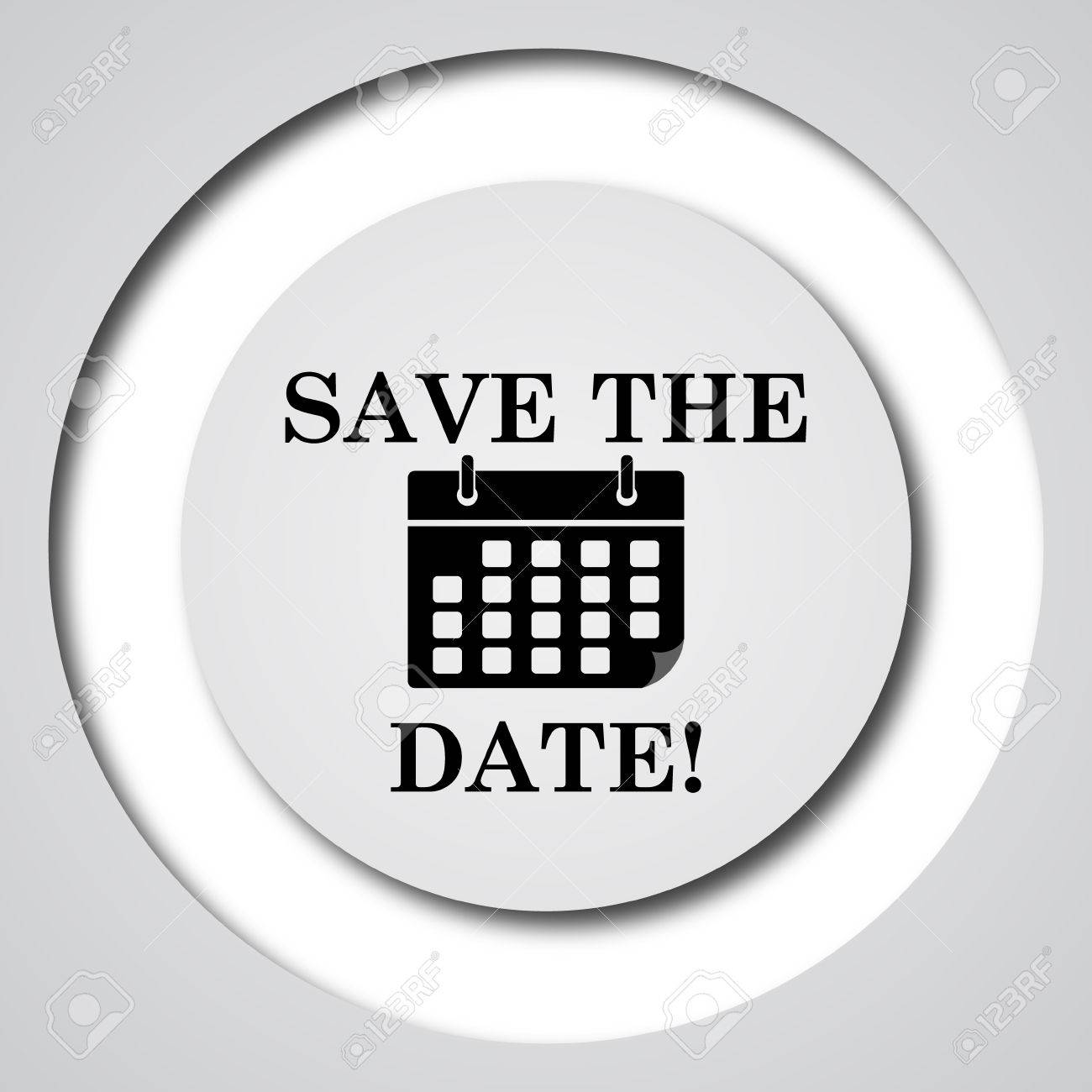 Save The Date Icon Internet Button On White Background Stock Photo Picture And Royalty Free Image Image 50706153