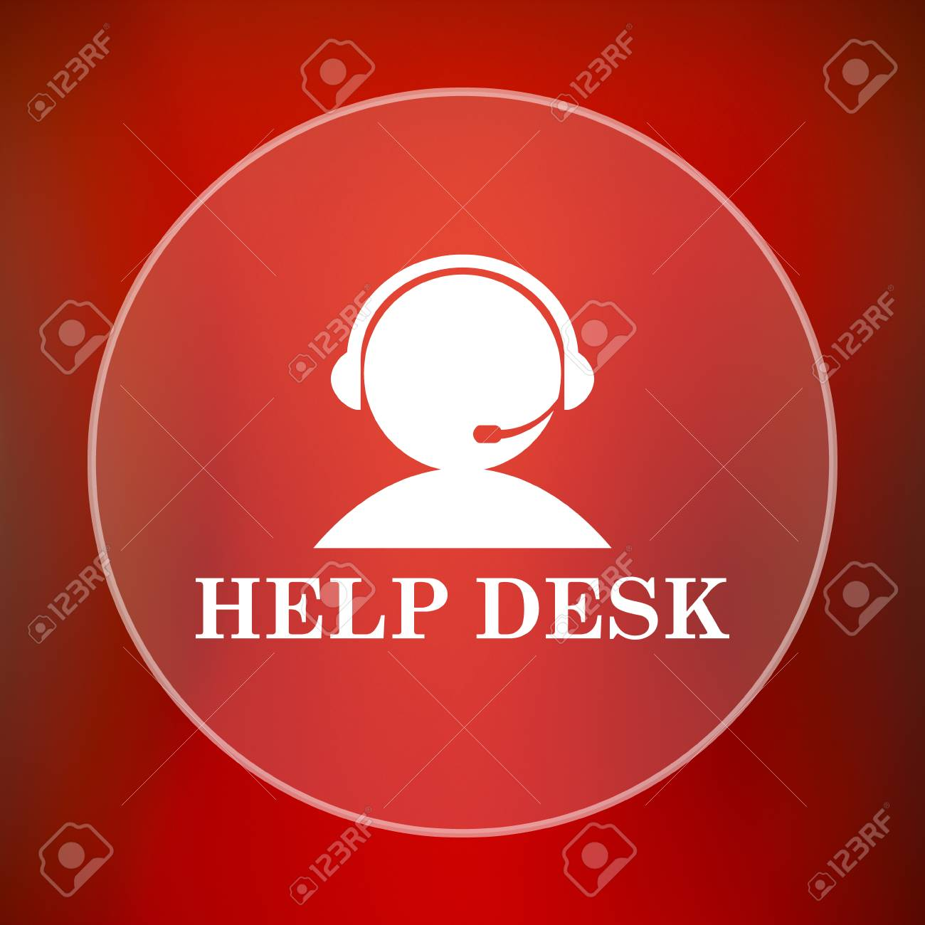 Helpdesk Icon. Internet Button On Red Background. Stock Photo   55164947 Good Looking