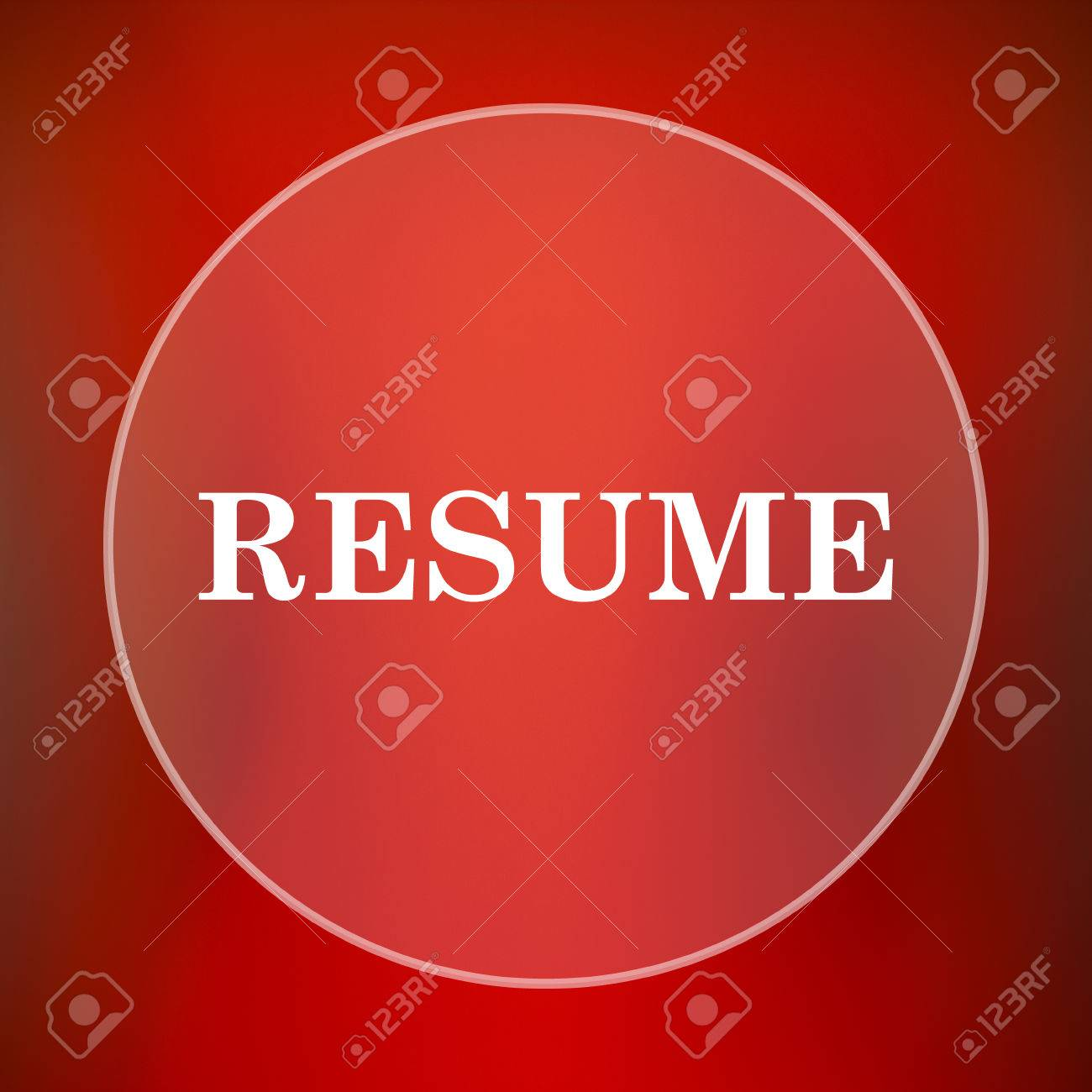 resume icon internet button on red background stock photo resume icon internet button on red background stock photo 55164321