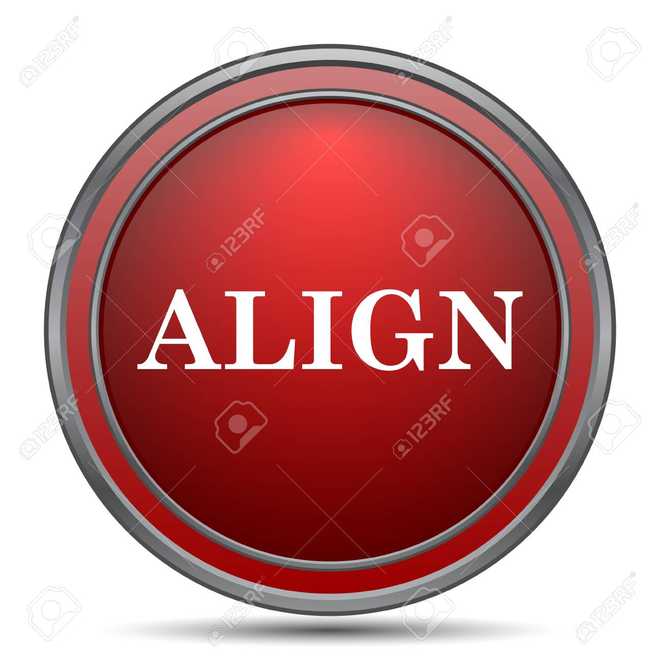 Background image align - Align Icon Internet Button On White Background Stock Photo 64817782
