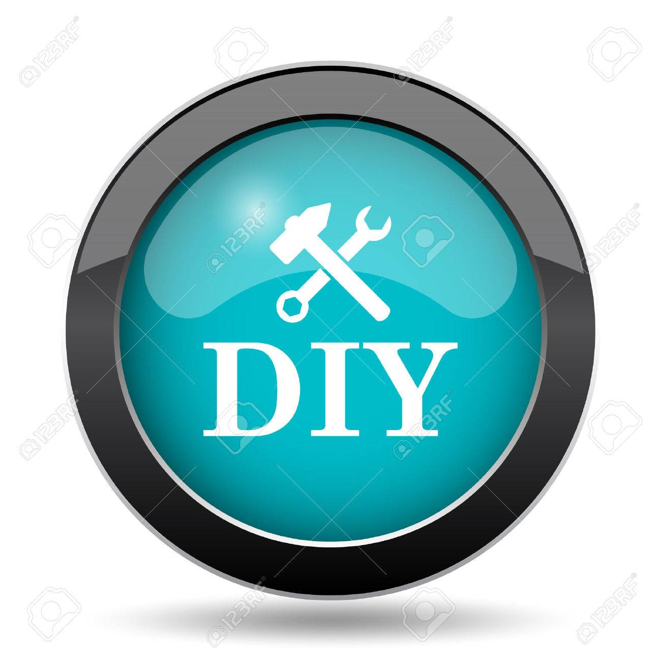 DIY icon  DIY website button on white background
