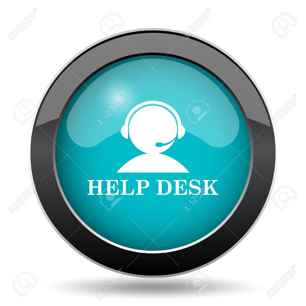Helpdesk Icon. Helpdesk Website Button On White Background. Stock Photo    66223313