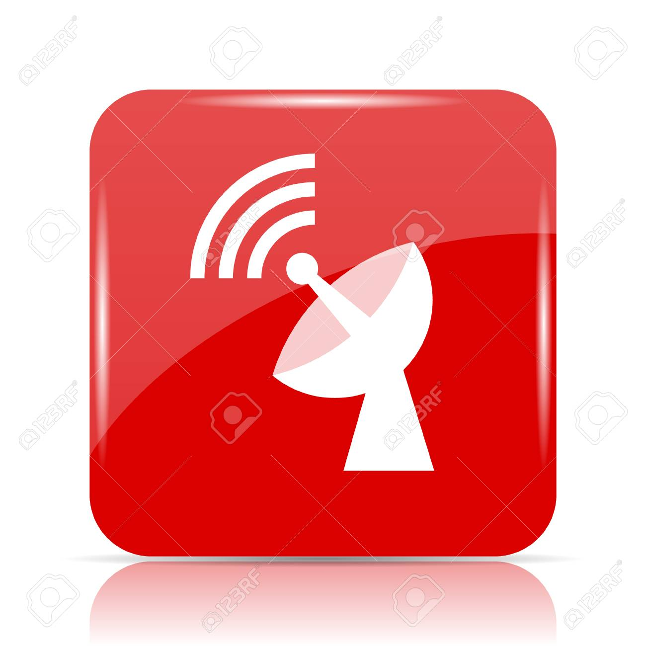 Drahtloses Antennensymbol. Drahtloser Antennenwebsiteknopf Auf ...