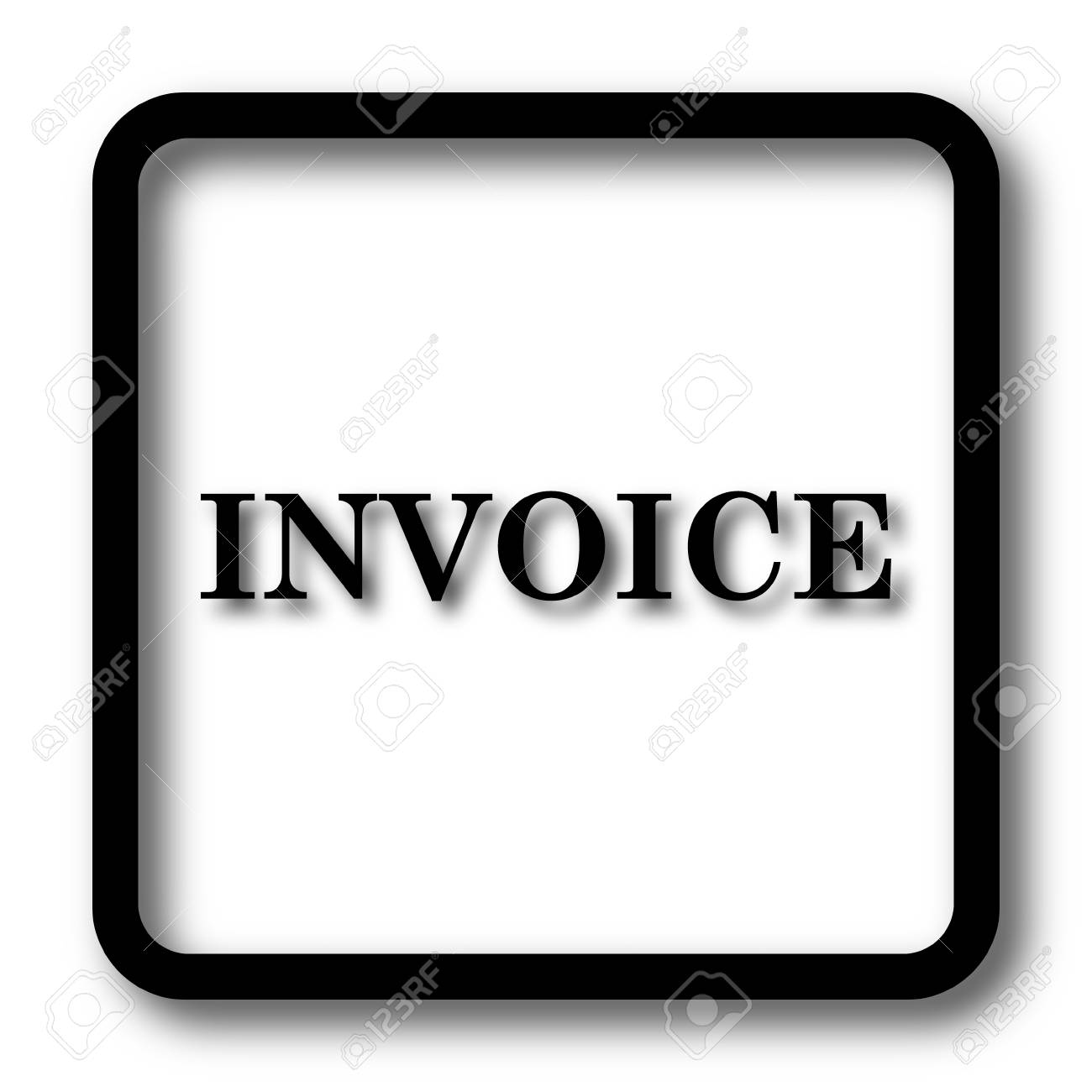 invoice icon black website button on white background stock photo 67226392