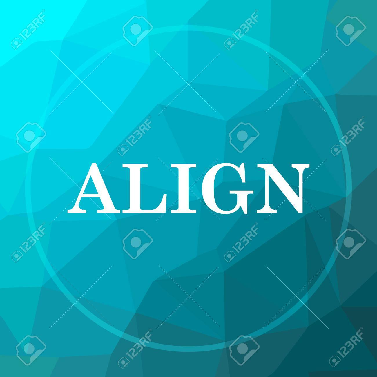 Background image align - Align Icon Align Website Button On Blue Low Poly Background Stock Photo 69299138
