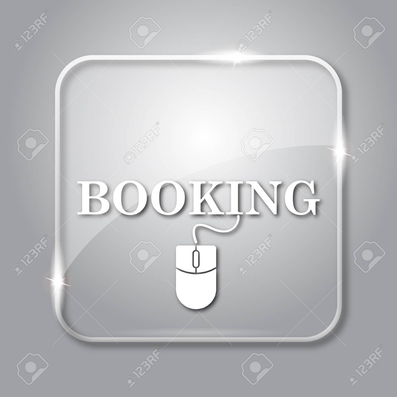 Booking Icon Transparent Internet Button On Grey Background