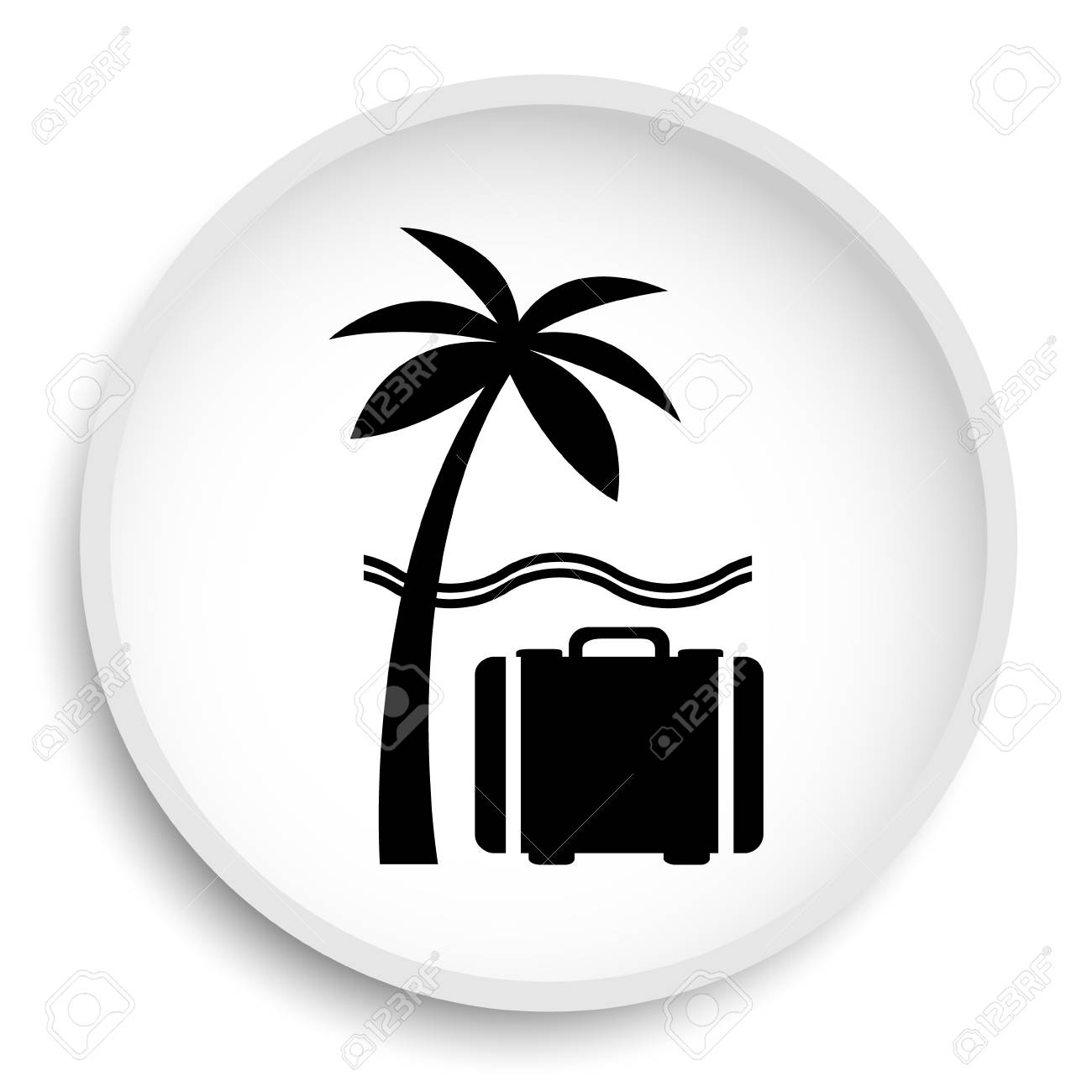 Travel Icon Travel Website Button On White Background Stock Photo Picture And Royalty Free Image Image 75401329